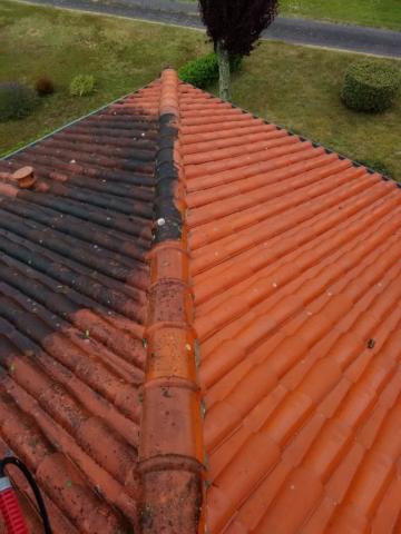 nettoyage toiture avant - aprés